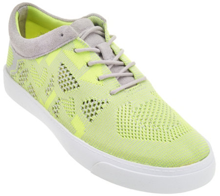 Clarks Somerset Knitted Lace-up Sneakers - Glove Glitter