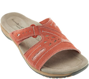 Earth Origins Suede or Leather Slide Sandals - Sizzle - A275131