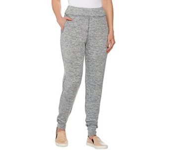 LOGO by Lori Goldstein Space Dye Knit Pants with Pockets - A276831