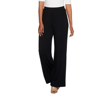 H by Halston Petite Full Length Pull-On Palazzo Pants - A278931
