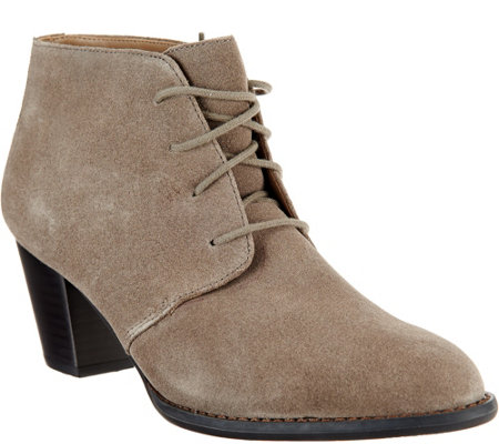 Vionic Orthotic Suede Lace-up Boots - Zenda