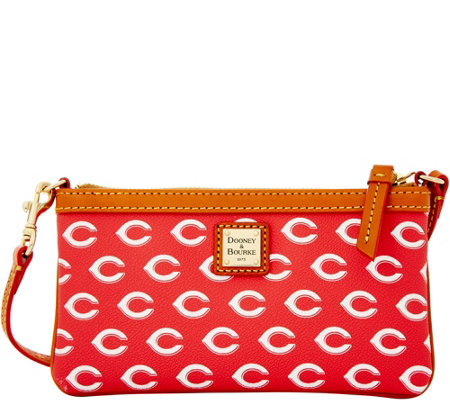 Dooney & Bourke MLB Reds Large Slim Wristlet