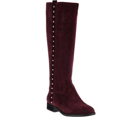 Marc Fisher Suede Tall Shaft Boots w/ Studs - Alto