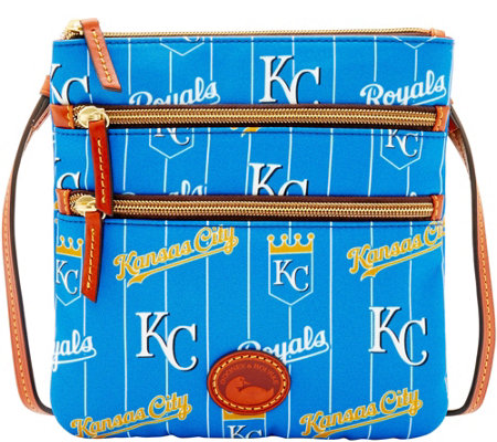 Dooney & Bourke MLB Nylon Royals Triple Zip Crossbody