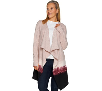 Cuddl Duds Fleecewear Stretch Long Sleeve Dip Dye Wrap - A282031
