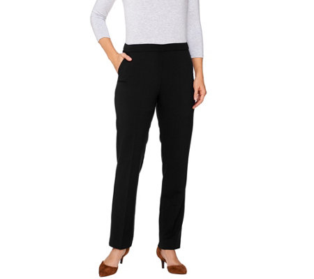 """As Is"" Susan Graver Chelsea Stretch Comfort Waist Pull-On Pants"
