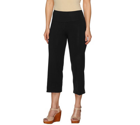 """As Is"" Women with Control Petite Tummy Control Crop Pants"