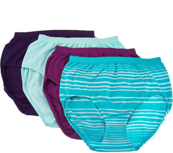Jockey Seamfree Comfies Microfiber 4-Pack Brief Panties - A286631