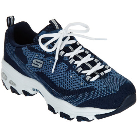 Skechers D'Lites Flat Knit Lace-up Sneaker - Reinvention