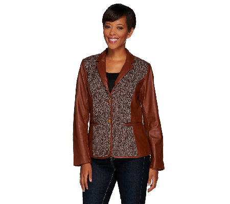 """As Is"" Liz Claiborne New York Heritage Collection Leather Jacket"