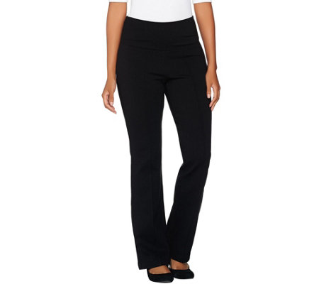 """As Is"" Belle by Kim Gravel Petite Tummy Smoothing Ponte Pants"