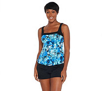 Fit 4 U Square Neck Tankini Swimsuit with Short - A304231