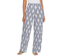 Denim & Co. Beach Regular Pull-On Wide Leg Knit Pants - A305631