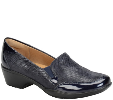Softspots Leather Slip-ons - Mandolin