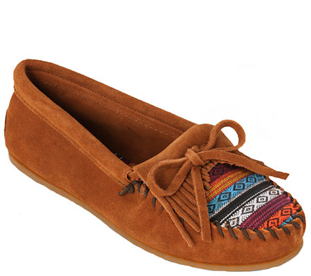Minnetonka Suede Leather Moccasins - KiltyArizona Fabric