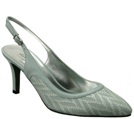 David Tate Leather Slingback Pumps - Bella