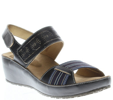 Spring Step L'Artiste Leather Sandals - Bazooka