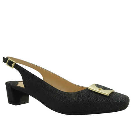 J. Renee Venda Low Heel Slingback Pumps - Venda