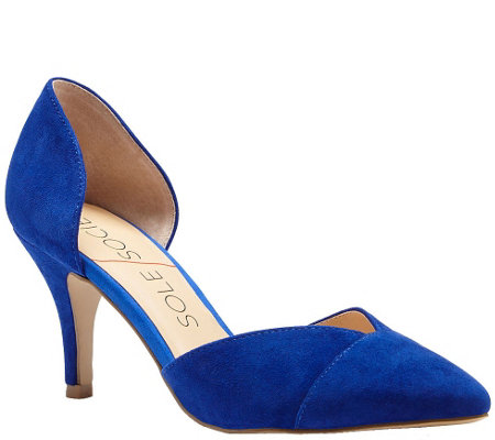 Sole Society Suede Two Piece Pump - Robbie