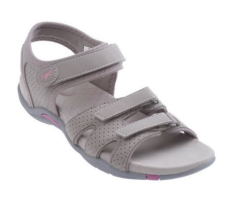 Ryka Perforated Quarter Strap Adjustable Sandals Page 1