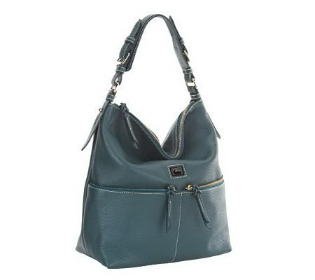 Dooney & Bourke Dillen Leather Medium Zipper Pocket Sac Hobo Bag ...