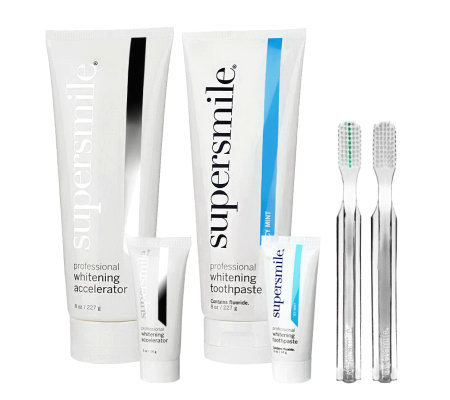Supersmile 6pc Super-size Teeth Whitening System 8oz w/Travel Size