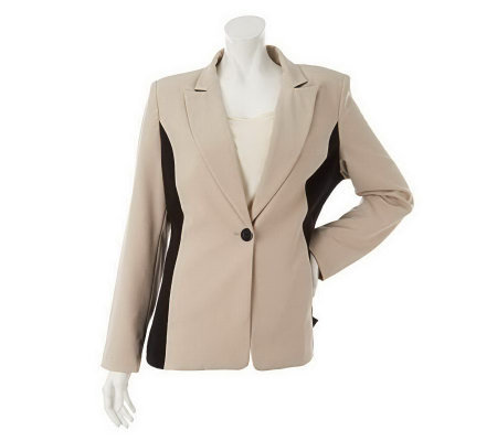 """As Is"" Susan Graver Chelsea Stretch Color Blocked Jacket"