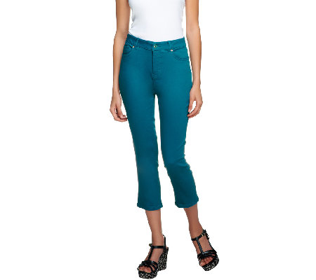 Isaac Mizrahi Live! Petite Stretch Crop Pants