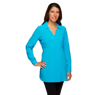 Attitudes by Renee V-Neck Cross Front Tunic