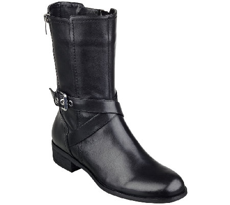 Marc Fisher Leather Mid-shaft Boots - Deni