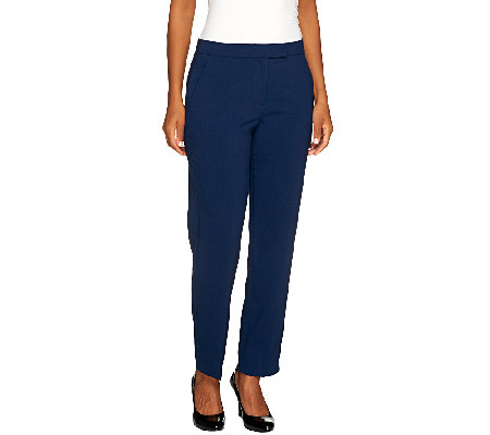 Susan Graver Regular Chelsea Stretch Pants with Pockets