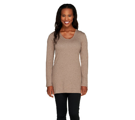 Liz Claiborne New York Petite Essentials Long Sleeve Tunic