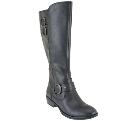 B.O.C. by Born Wide Shaft Riding Boots - Hart - Page 1 — QVC.com