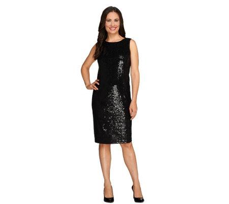 Joan Rivers Petite Sequin Sheath Dress - Page 1 — QVC.com