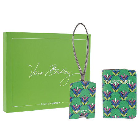 Vera Bradley Faux Leather Travel Companions