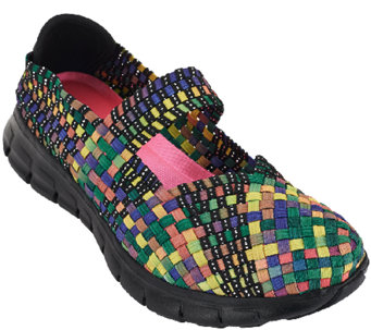 Skechers Woven Mary Janes w/ Memory Foam - Good Vibes - A263532