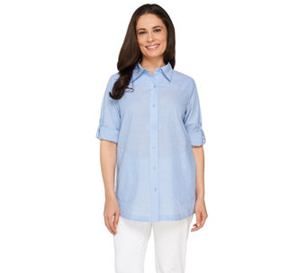 Joan Rivers Lightweight Boyfriend Shirt - A264732