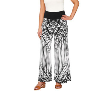 Women with Control Regular Printed Palazzo Pants with Side Slits - A264932