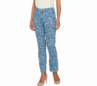 Liz Claiborne New York Jackie Printed Ankle Jeans - A267332