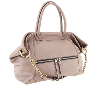 """As Is"" orYANY Jocelyn Italian Grain Leather Satchel - A267632"