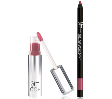 IT Cosmetics CC Lip Serum Creme Gloss & Lip Liner Auto-Delivery