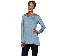 Linea by Louis Dell'Olio Cowl Neck Long Sleeve Knit Top - A268132