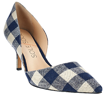 Sole Society Printed Mid-heel Pumps - Jenn