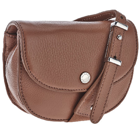 Isaac Mizrahi Live! SOHO Leather Snap Crossbody