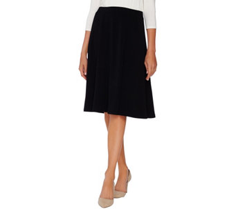 Susan Graver Passport Knit Gored Skirt - A269232