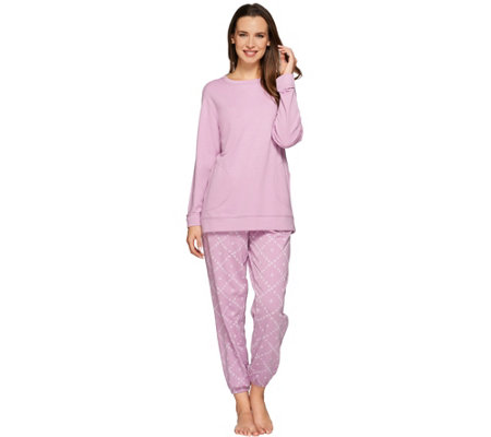 Stan Herman Zen Diamond Frech Terry Tunic & Jogger Lounge Set