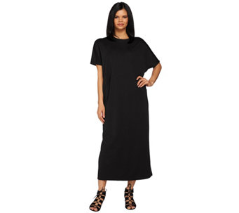 Joan Rivers Petite Ponte Knit Caftan Dress With Pockets - A273932