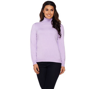 """As Is"" Linea by Louis Dell'Olio Whisper Knit Turtleneck - A277332"