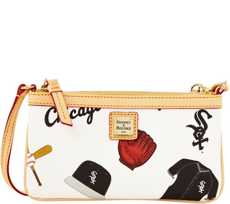Dooney & Bourke MLB White Sox Large Slim Wristlet