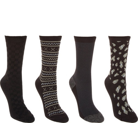 Cuddl Duds Plushfill Pima Cotton Socks Set of Four